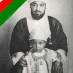 السلطان قابوس مع والده السلطان سعيد بن تيمور